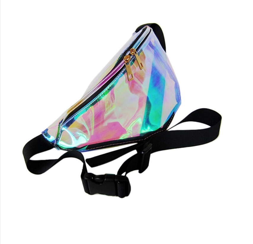 7 Colors Rainbow Transparent Bag Punk FANNY PACK Punk Bum Bag Chic Hologram Purse Fashion Waist Pack