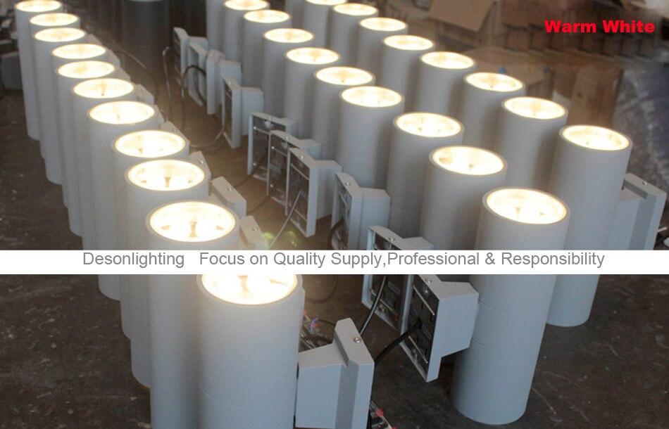 Up down led illuminazione esterna lampada applique da parete luce