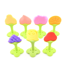 1 Pc Baby Teether Food Grade Silicone Teether Fruit Shape Baby