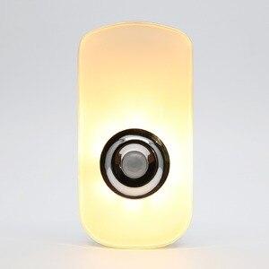 Image 2 - 3 في 1 تصميم 110 فولت 220 فولت الاتحاد الأوروبي الولايات المتحدة التوصيل PIR محس حركة ضوء الليل اللاسلكية مصباح يدوي قابل لإعادة الشحن للطفل غرفة الطفل في حالات الطوارئ