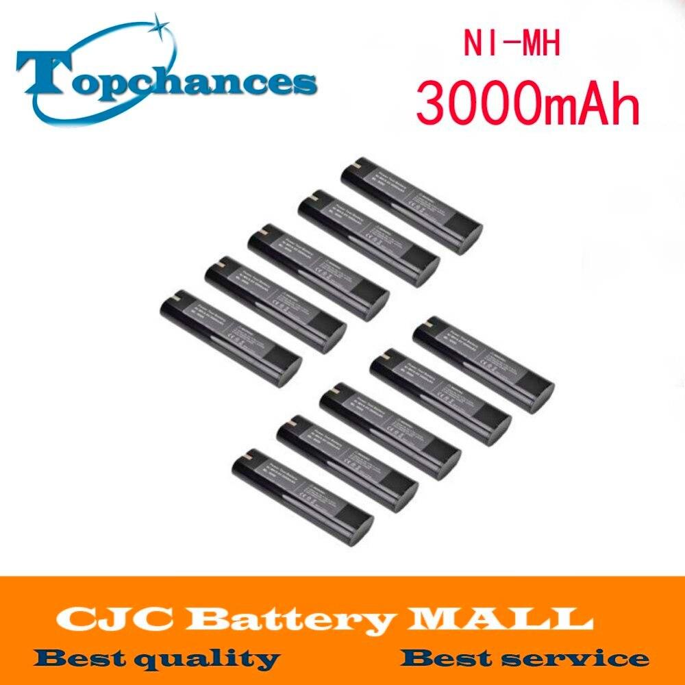 10pcs High Quality 9 6v 3000mah 3 0ah Ni Mh Battery For