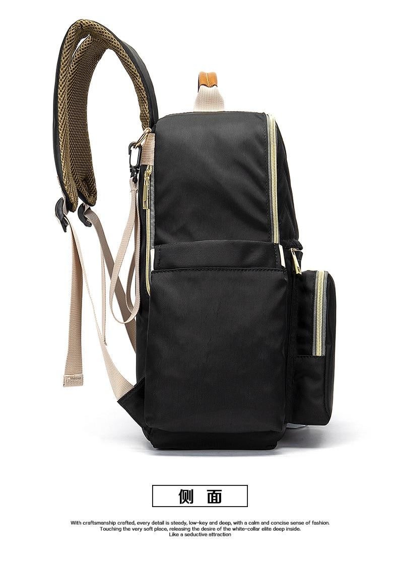 2019 New Baby Diaper Bag Interface Large Capacity Waterproof Nappy Bag Kits Mummy Maternity Travel Backpack Nursing (28)