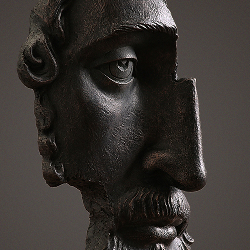 American Rustic Style Retro Sculpture Of Ancient Greece Half Face