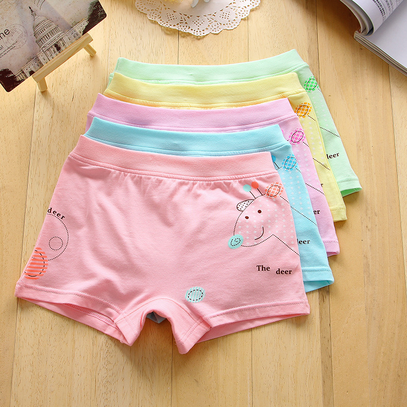 Girls underwear Free shipping new arrived kids character boxer short children panties 5pcs/lot 2-9year students