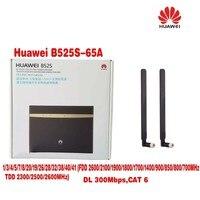 (+ Плюс 2 шт. 3G/4 г LTE длинный сигнал диапазона антенны) huawei b525s 65a 4 г LTE WLAN маршрутизатор 300 Мбит