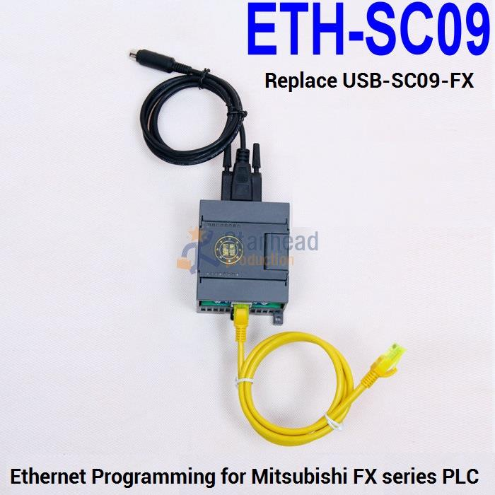 100% Wahr Isoliert Eth-sc09 Plc Programmierung Adapter, Für Ethernet Oder Wifi Zu Mitsubishi Fx Plc, Ersetzen Usb-sc09-fx Kabel