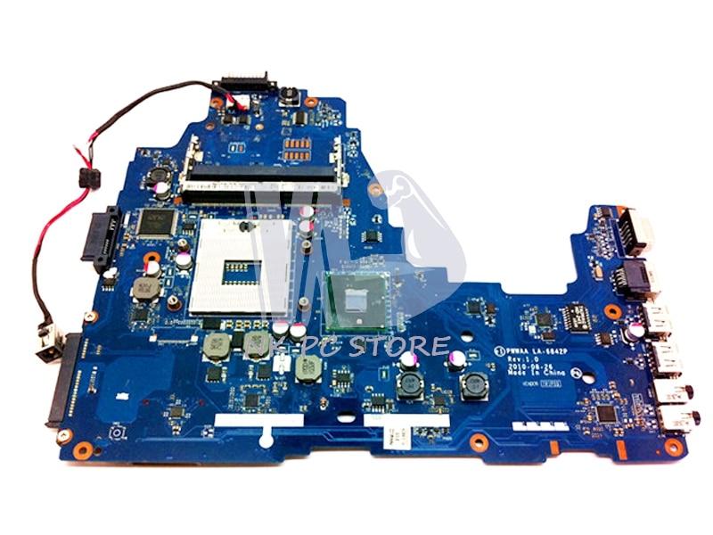 NOKOTION K000111440 Main Board For Toshiba C660 C660-1F1 Laptop Motherboard HM55 DDR3 PWWAA LA-6842P nokotion 645386 001 laptop motherboard for hp dv7 6000 notebook pc system board main board ddr3