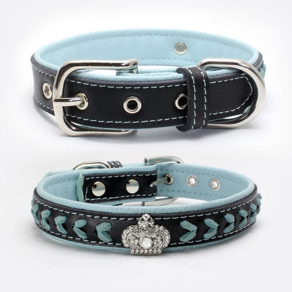 Rhinestone An Crown Really Pets Collar For A Dog Chain Exceed Soft And leash set Delicate Comfortable Low A Collar JJ-XQ12