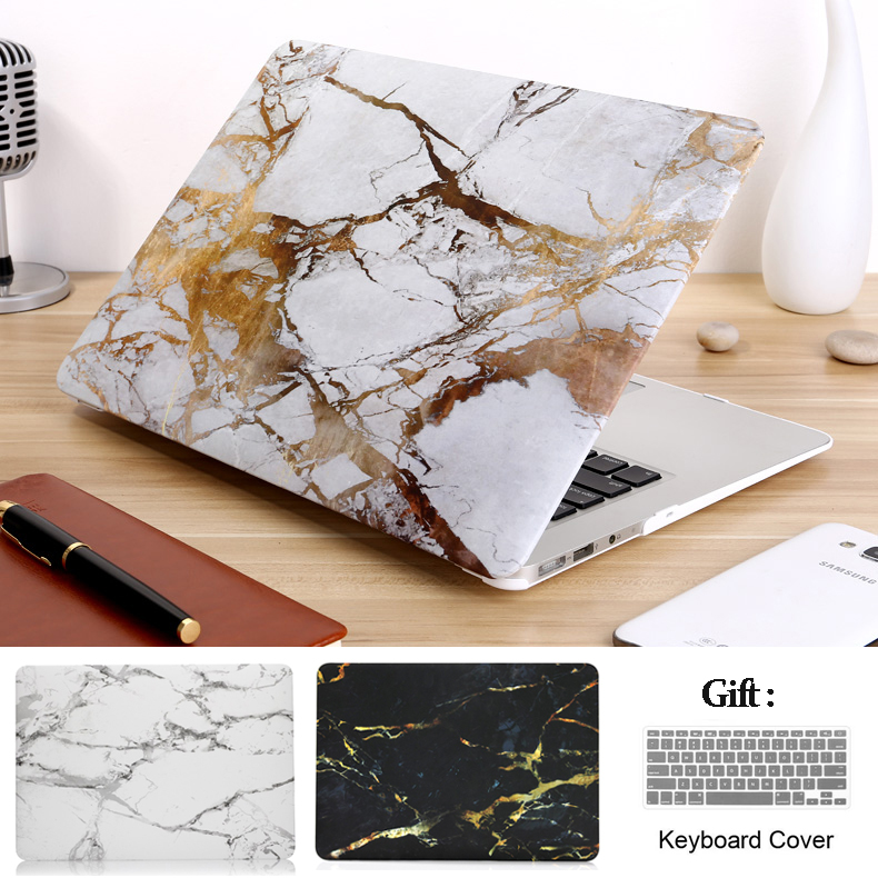 marble Laptop Case for MacBook Air 13 A1466 Pro Retina 11 12 13 15 touch bar shell For mac book New Air 13 A1932 +Keyboard cover