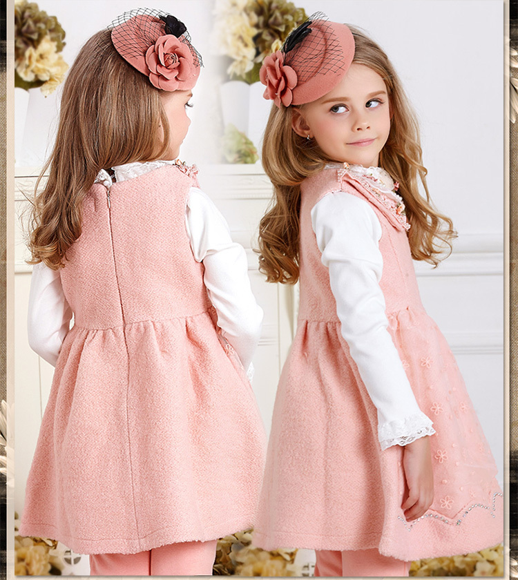 2015 Winter Lolita Fashion Brand Casual Dress Pink Red