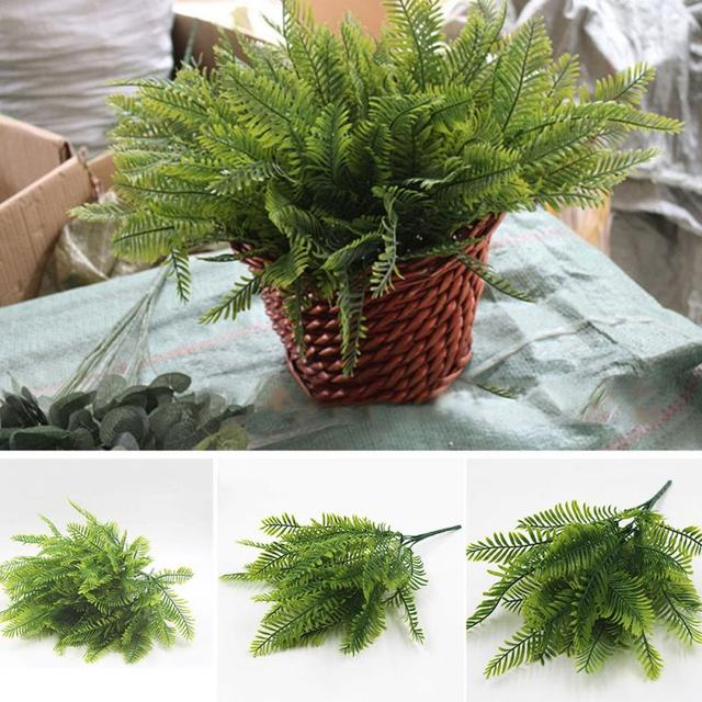 artificial foliage plant plastic greeen ferns weed branches bouquet