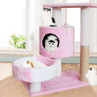 HEYPET Funny Plush Cat Scratcher Tree Pet Play Toy Mouse Scratching Post Climbing Frame Cat Furniture Pet Product