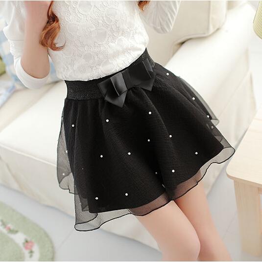 Fashion Women's Skirt Beads High Waist Skirt Pleated Floral Short Mini Skirt Skater Women Knee-Length Skirts