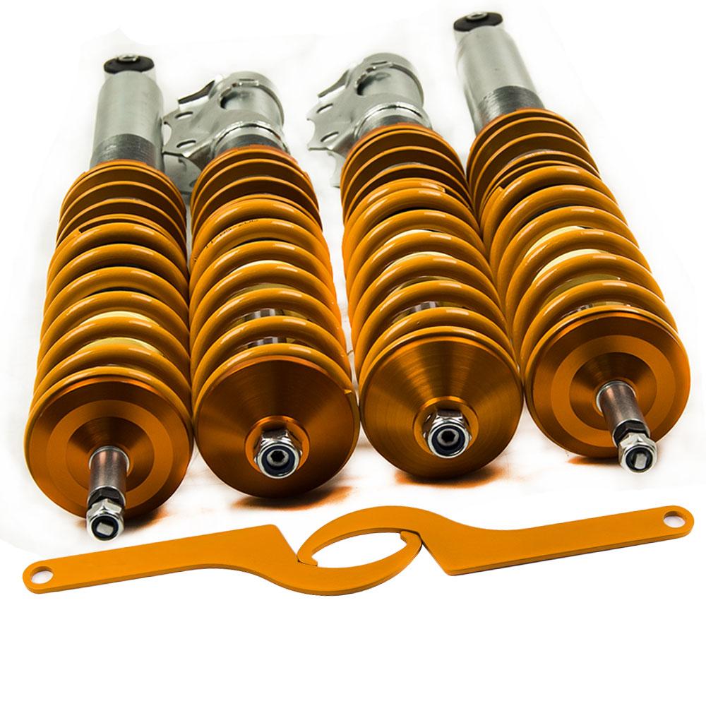 Lowering Coilover For VW A3 mk3 mark3 Jetta/Vento III (1H) 1992.1-1999.2 Strut 1.8 I4 55 kW Adjustable Suspension Shocks Spring