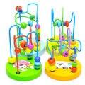 Juguete de Aprendizaje temprano de Los Niños Niños Del Bebé de Colores Mini De Madera Alrededor de Los Granos Para la Educación Matemática Toy Color Al Azar