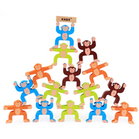 Baby educational toys color monkey balancing blocks wooden toy high quality early Montessori learning game gift for children