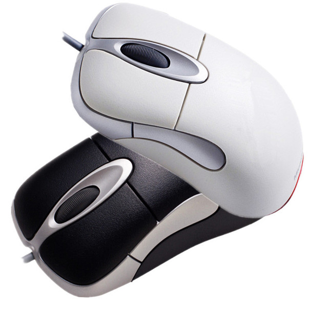 Wholesale IO1.1 USB Wired Gaming Mouse Without Retail Box USB Wired Optical  IntelliMouse IO 1.1 Mouse Free Shipping