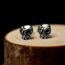Skull Eye Biker Earrings