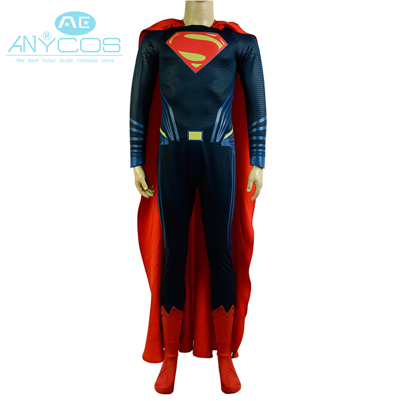 nºbatman v superman justice league superman cosplay costume deluxe