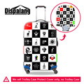 Dispalang Fashion Music Pattern Stretchable Luggage Protectors Elastic Thicken Luggage Protective Covers For 18-30 Inch Suitcase