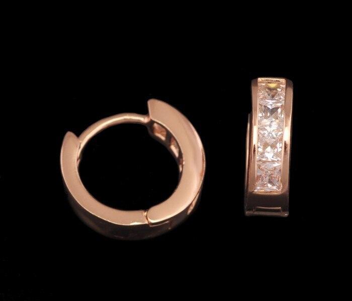 MxGxFam розовое Золотое кольцо серьги женские с цирконом AAA без содержания свинца и никеля
