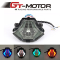 GT Motor - INTEGRATED RED BLUE GREEN Motorcycle LED Tail Light SMOKED FOR YAMAHA R3 2015-2016 R25 2014-2015 MT-07 FZ-07 14-15