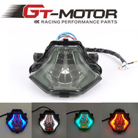 Gt motor-integrado vermelho azul verde motocicleta led cauda luz fumada para yamaha r3 2015-2016 r25 2014-2015 MT-07 FZ-07 14-15