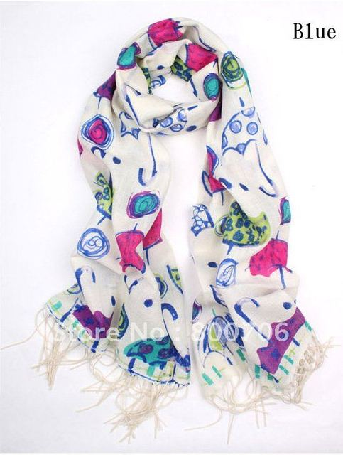 Envío gratis Hot lindo patrón de paraguas de chales de cachemira de ...