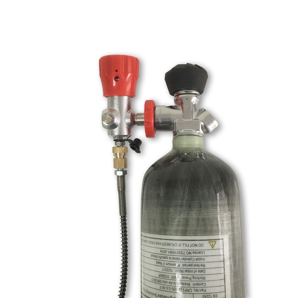 AC103301 Carbon Fiber Cylinder 4500Psi 3L Air Tank Compressor Oxygen Pressure Valve Cylinder For Diving Fire Extinguisher