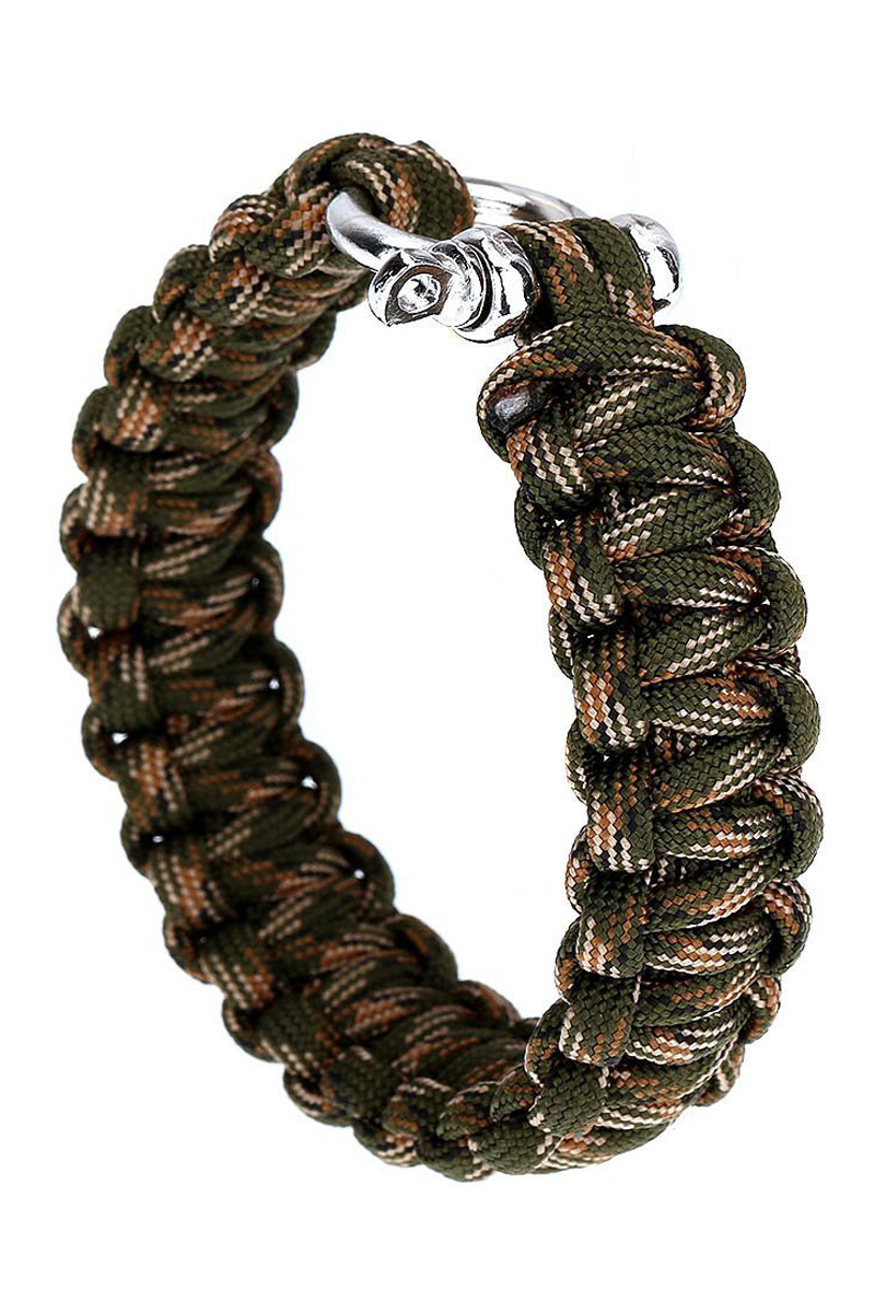 New Paracord Parachute Cord Outdoor Emergency Quick Release Survival  Bracelet With U Bucklegreen Camo