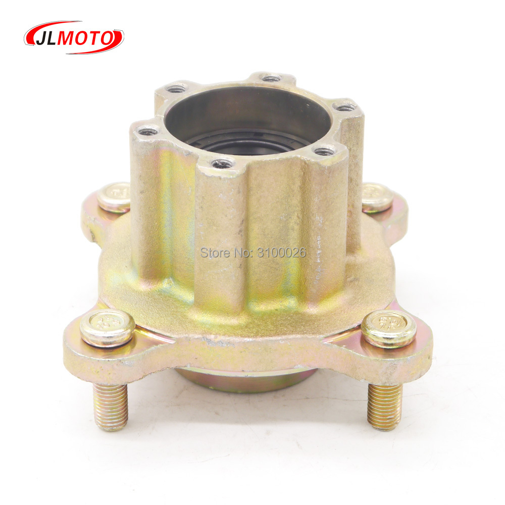 Cheap Sale Front 110mm*4 M10 Stud Disc Brake Wheel Hub Fit For China Kandi 150cc 200cc Go Kart Buggy Karting Atv Quad Bike Parts Cheapest Price From Our Site Go Kart Parts & Accessories