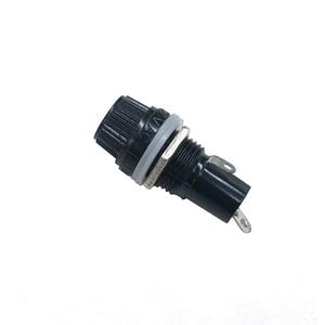 5 teile/los 5*20mm 10A 250V Glas Sicherung halter 5x20 Schwarz Versicherung Rohr Buchse Panel montieren Sicherung Buchse Kupfer