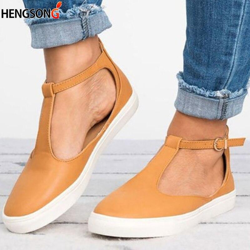 a08be357e8d Dedo Zapatos Mujeres Moda Plus Black Verano Transpirable Del golden Planos  Pie Calzado 2019 Tamaño Cerrado ...