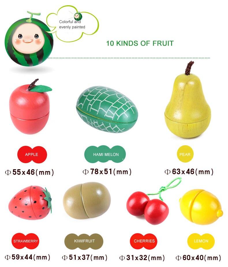 Juguetes Perakitan Makanan Kayu Mainan Simulasi Buah dan Sayuran ... 1eaa0f85af