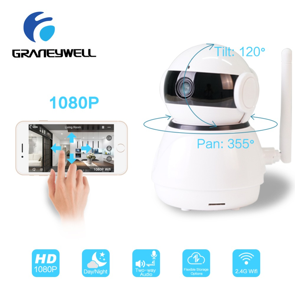 Graneywell 1080P IP Camera HD CCTV Baby Monitor Wifi IP Camera Home Security Smart Night Vision Video Surveillance Mini Camera wifi ip camera indoor bulb light camera home security cctv surveillance micro camera 720p 1080p mini smart night vision hd cam page 5