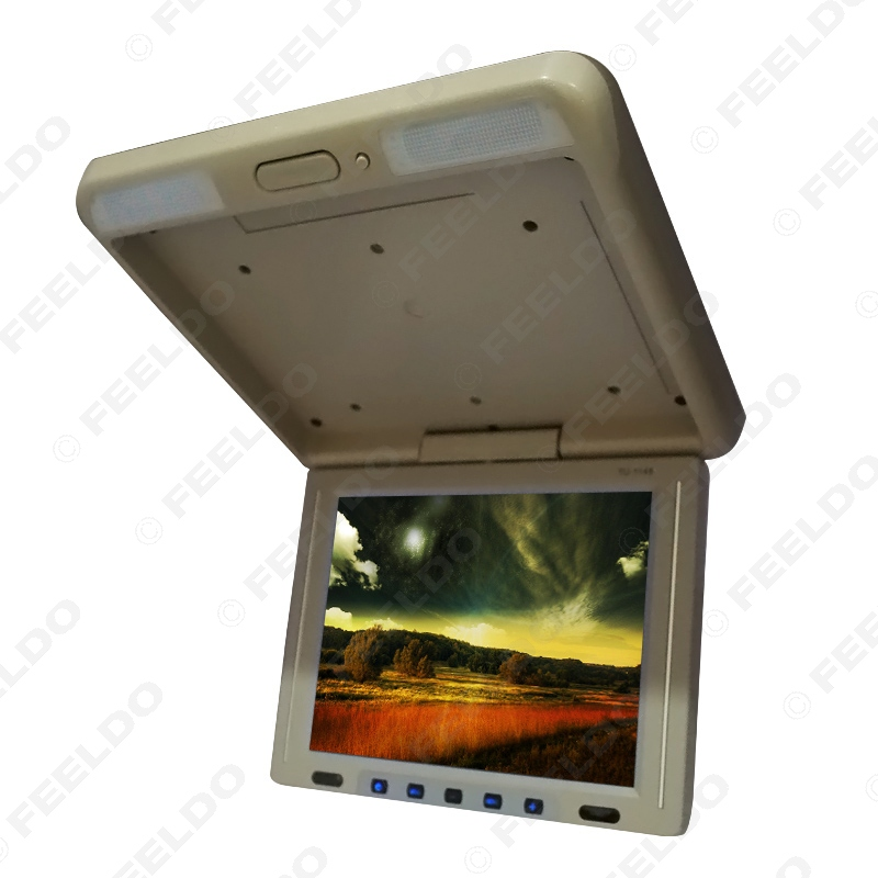 FEELDO 11.3 Roof Mounted TFT LCD Monitor 2 Way Video Input Flip Down Car/Bus/Truck Monitor - 4