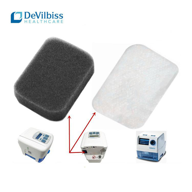 8pcs Disposable Universal Replacement Filter cotton for Devilbiss DV54/55/56/57 CPAP Ventilator Filters Home care Half year kit