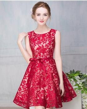 Vestidos de fiesta cortos negro y rojo