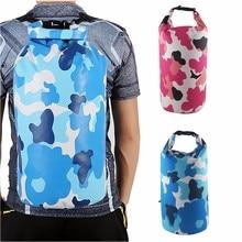 Outdoor Bag Camouflage Portable Rafting Diving Dry Bag PVC Waterproof Swimming Storage Bag for River Trekking 2L/5L/10L/15L/20L