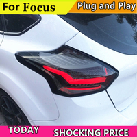 Car Tail Light For Ford Focus Hatch back Taillights 2015 2016 2017 All LED Tail Lamp Rear Lamp DRL+Brake+Park+Signal light back