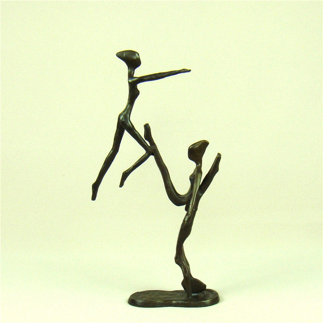 Handmade Copper Water ballet Swimming Statue Abstract Metal Girl ...