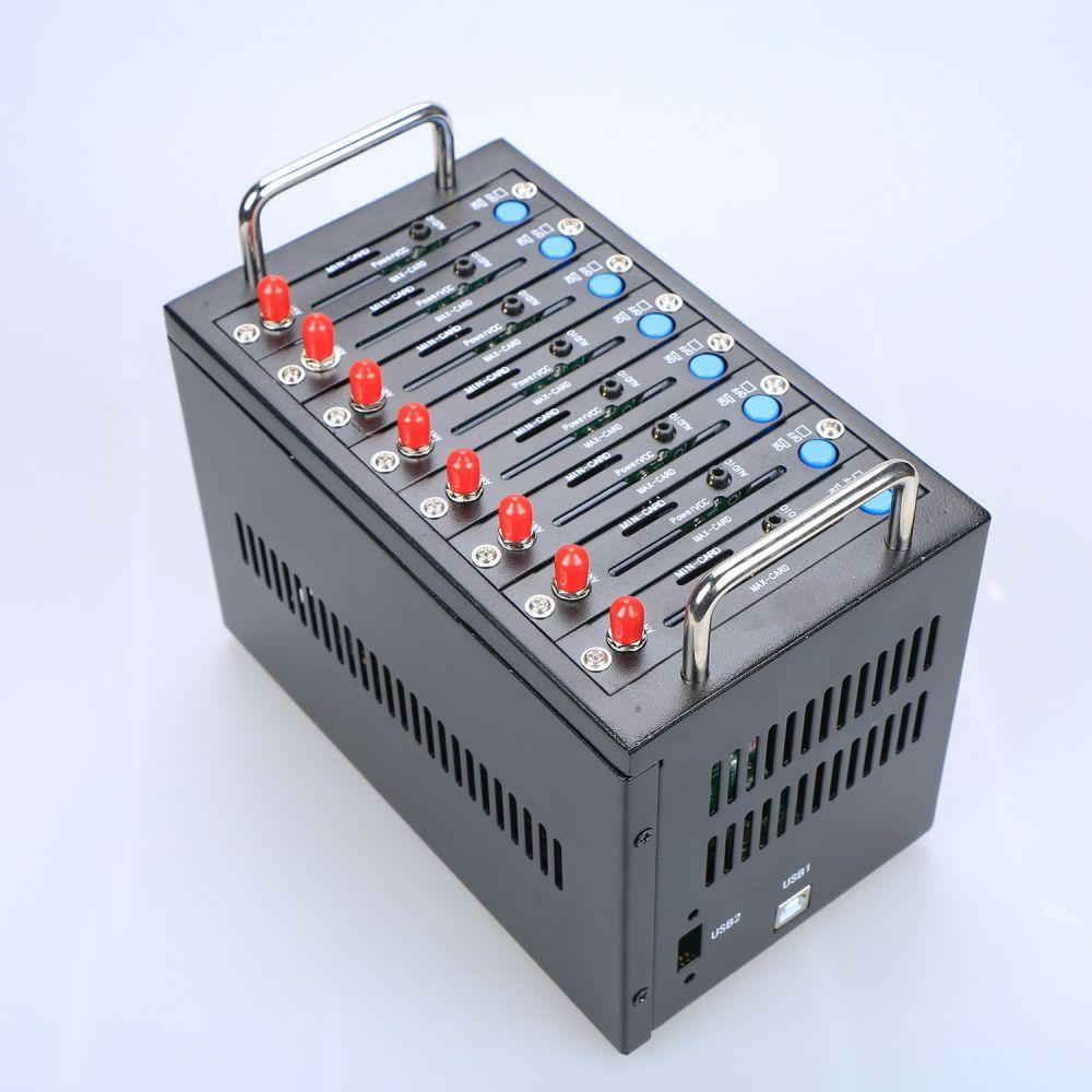 GSM Modem Pool 8 ports for Wavecom Q2403 Module USB AT Commands 900/1800 MHz 4 ports gsm modem usb interface wavecom module q2303