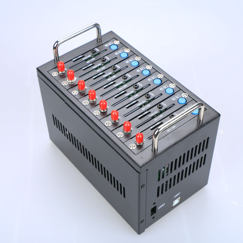 GSM Modem Pool 8 ports for Wavecom Q2403 Module USB AT Commands 900/1800 MHz usb wavecom q2403 bulk sms gsm 4 ports modem pool