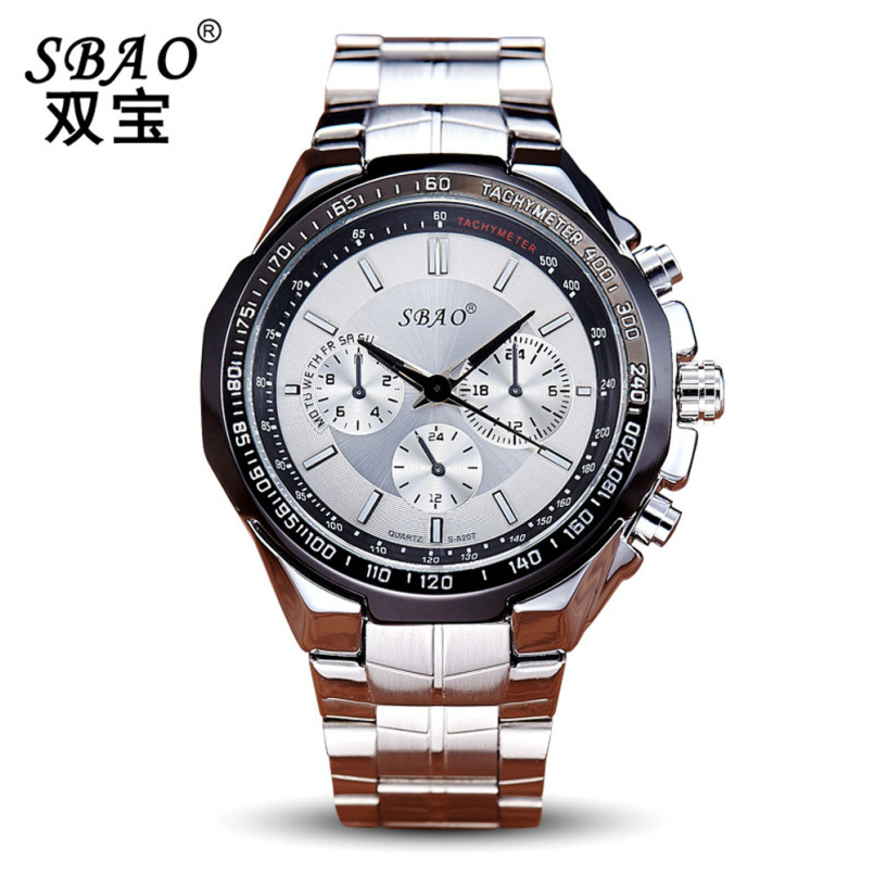Excellent Quality Auto Date Watches Men Water Resistant Stainless Steel Men Watch Fashion Dress Business Design Quartz-Watch
