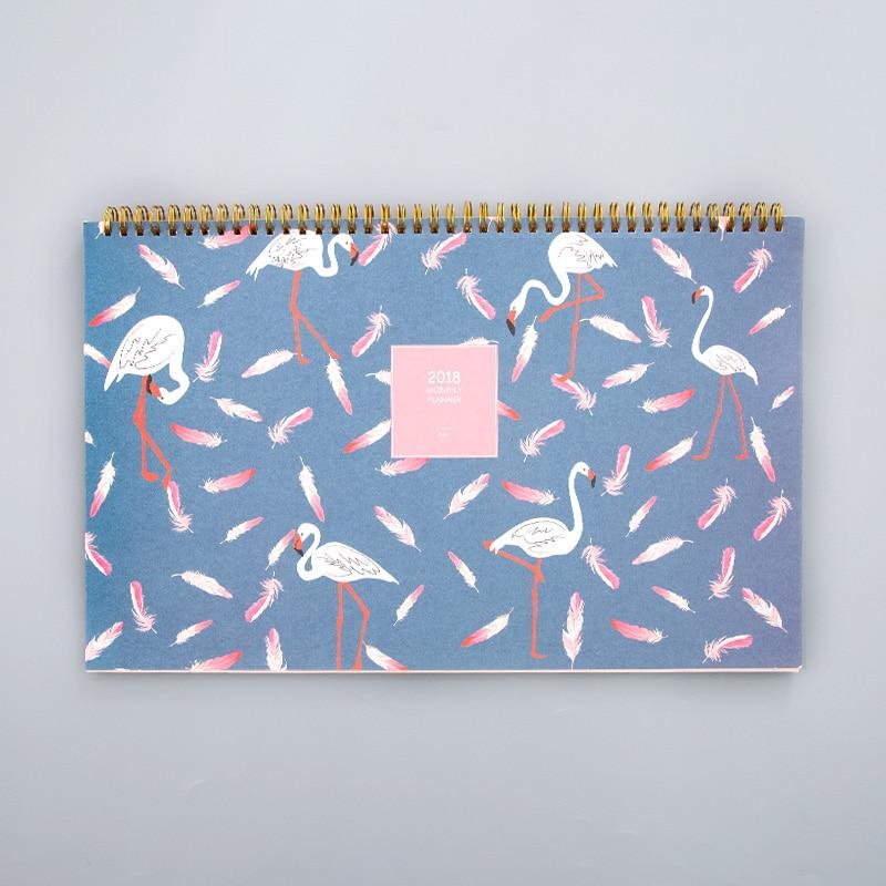 2018 Desk Calendar Creative Notepad Small Fresh Desktop Ornaments Small Calendar Simple Cartoon Calendar 22.6*37.4 Cm Agenda