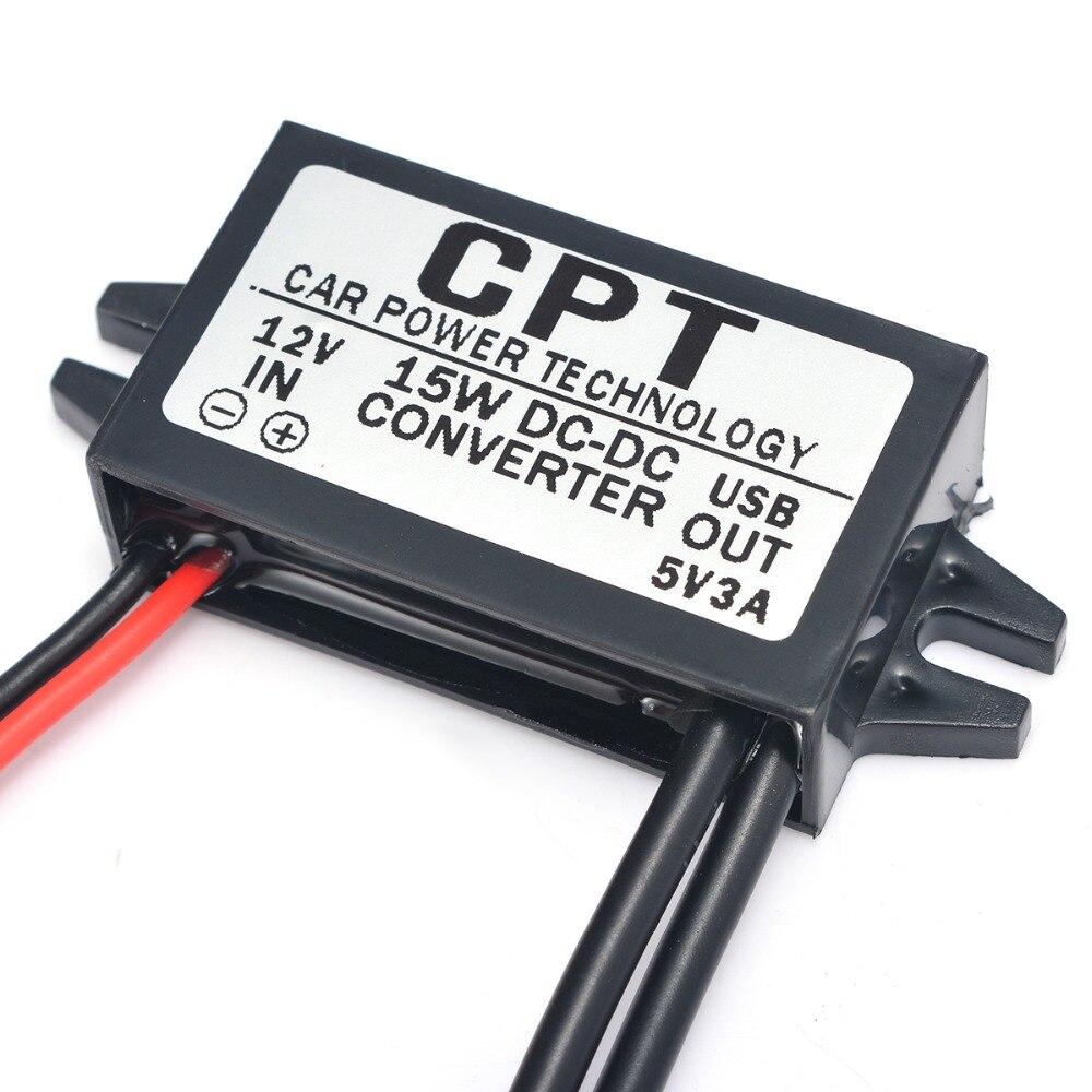 1 шт. Водонепроницаемый двойной USB преобразователь питания DC 12 В до 5 В автомобильный мотор зарядное устройство адаптер разъем 3A