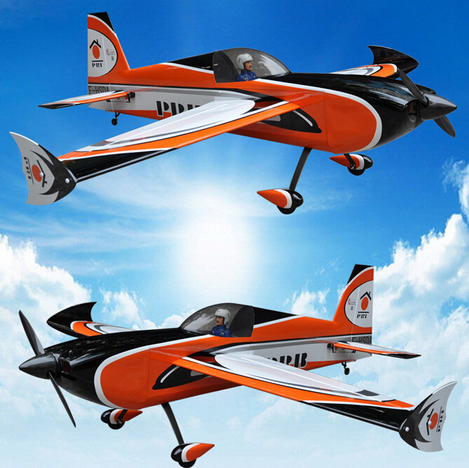 91in/2311mm Slick 3D Gas Balsa Wood RC Airplane 6channels 60cc Plane ARF Orange US Stock mxs r 89 2260mm 50cc gas rc airplane balsa wood oracover flim plane arf