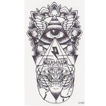 new eye of God Temporary Tattoo Sticker totem tatoo body art Waterproof fake tattoo God' s eye flash tattoos for woman men henna