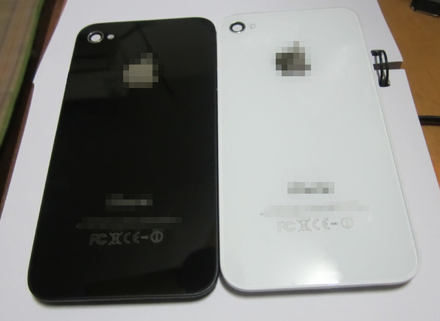 Back cover assembly for iphone 4s back housing,Black or white 100% good quality