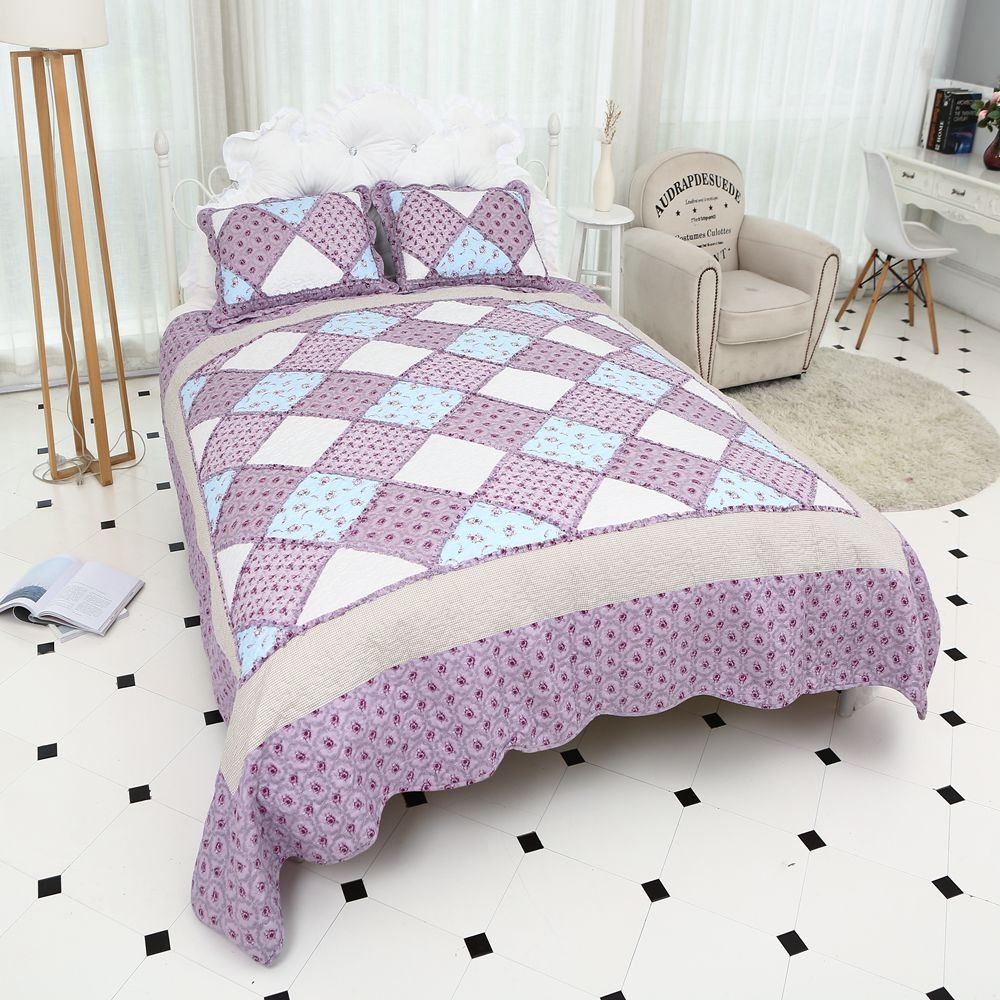 Luxury Brand Soft Bedspread High Quality Hotel Comforter Cotton Quilted Decorative Pillow Case King Size Twin Coverlet